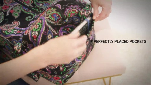 Vera Bradley Iconic Large Travel Duffel - image 4 from the video