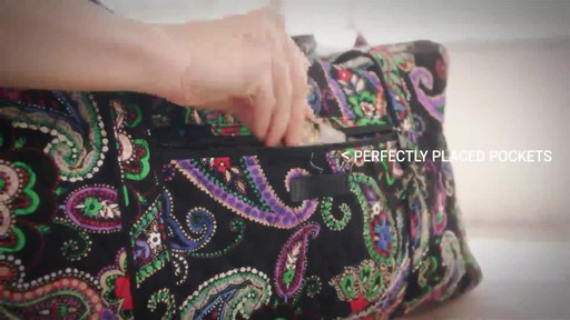 Vera Bradley Iconic Large Travel Duffel - image 5 from the video