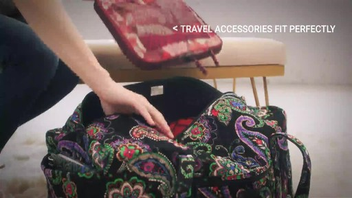 Vera Bradley Iconic Large Travel Duffel - image 6 from the video