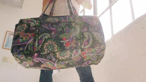 Vera Bradley Iconic Large Travel Duffel - image 8 from the video