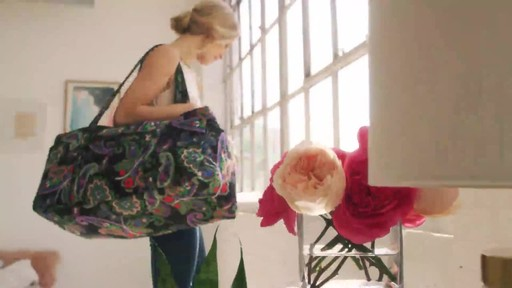 Vera Bradley Iconic Large Travel Duffel - image 9 from the video