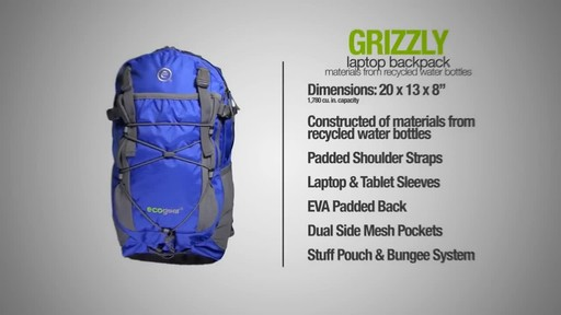 ecogear Grizzly Laptop Backpack - image 10 from the video