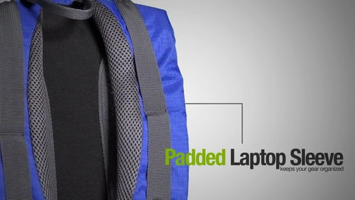 ecogear Grizzly Laptop Backpack - image 6 from the video
