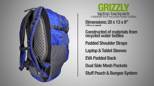 ecogear Grizzly Laptop Backpack - image 8 from the video