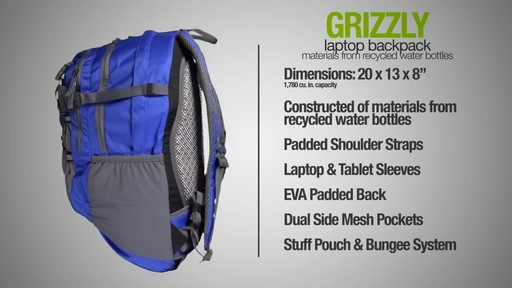 ecogear Grizzly Laptop Backpack - image 9 from the video