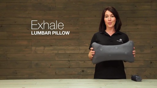 Eagle Creek Exhale Lumbar Pillow - image 1 from the video