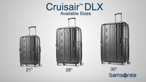 Samsonite Cruisair DLX Hardside Spinner on eBags.com - image 9 from the video