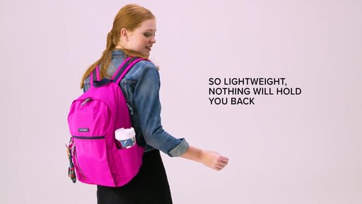 Vera Bradley Lighten Up Small Backpack - image 3 from the video