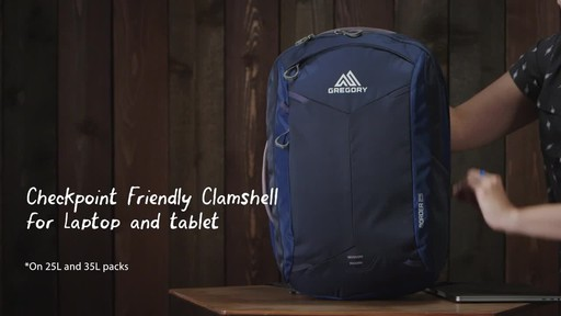 Gregory Border 35L Laptop Backpack - image 4 from the video