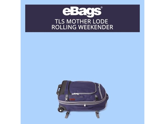 eBags TLS Mother Lode Rolling Weekender - image 2 from the video