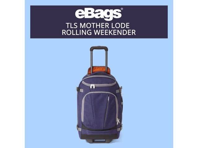 eBags TLS Mother Lode Rolling Weekender - image 5 from the video