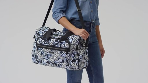 Vera Bradley Iconic Deluxe Weekender Travel Bag - image 1 from the video