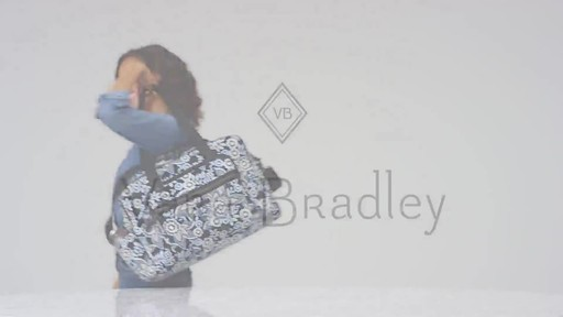 Vera Bradley Iconic Deluxe Weekender Travel Bag - image 10 from the video