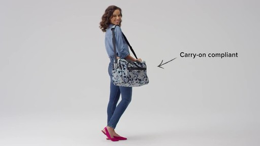 Vera Bradley Iconic Deluxe Weekender Travel Bag - image 2 from the video