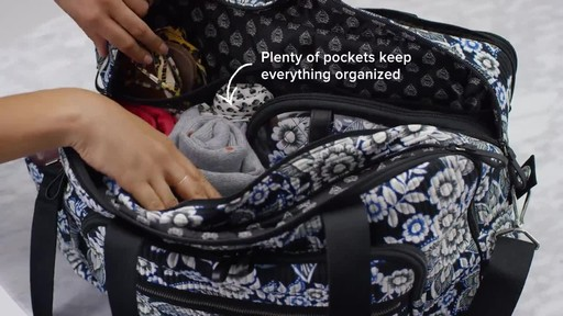 Vera Bradley Iconic Deluxe Weekender Travel Bag - image 5 from the video