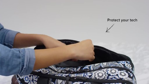 Vera Bradley Iconic Deluxe Weekender Travel Bag - image 6 from the video