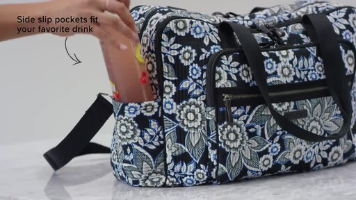 Vera Bradley Iconic Deluxe Weekender Travel Bag - image 7 from the video