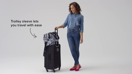 Vera Bradley Iconic Deluxe Weekender Travel Bag - image 9 from the video