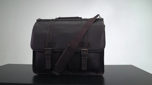 Kenneth Cole Reaction Mind Your Own Business - Colombian Leather Dowel Rod Laptop Case - on eBags.co - image 1 from the video
