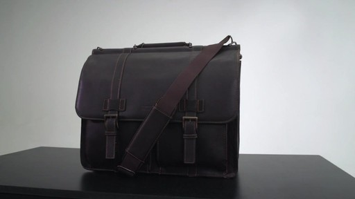 Kenneth Cole Reaction Mind Your Own Business - Colombian Leather Dowel Rod Laptop Case - on eBags.co - image 10 from the video