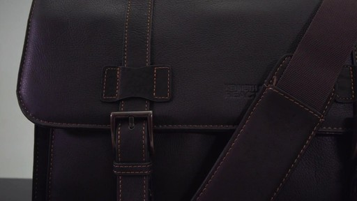 Kenneth Cole Reaction Mind Your Own Business - Colombian Leather Dowel Rod Laptop Case - on eBags.co - image 2 from the video