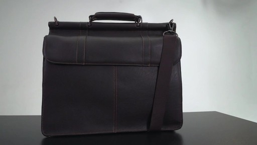 Kenneth Cole Reaction Mind Your Own Business - Colombian Leather Dowel Rod Laptop Case - on eBags.co - image 3 from the video
