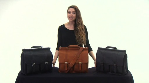 Kenneth Cole Reaction Mind Your Own Business - Colombian Leather Dowel Rod Laptop Case - on eBags.co - image 4 from the video