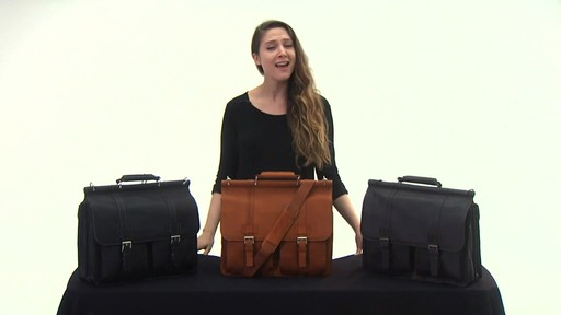 Kenneth Cole Reaction Mind Your Own Business - Colombian Leather Dowel Rod Laptop Case - on eBags.co - image 5 from the video