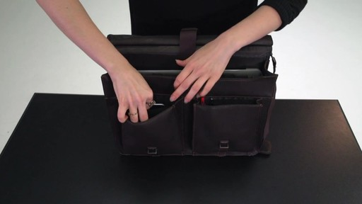 Kenneth Cole Reaction Mind Your Own Business - Colombian Leather Dowel Rod Laptop Case - on eBags.co - image 6 from the video