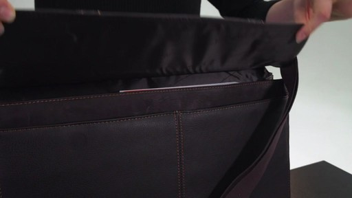 Kenneth Cole Reaction Mind Your Own Business - Colombian Leather Dowel Rod Laptop Case - on eBags.co - image 7 from the video