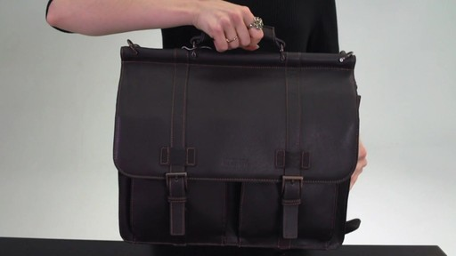 Kenneth Cole Reaction Mind Your Own Business - Colombian Leather Dowel Rod Laptop Case - on eBags.co - image 8 from the video