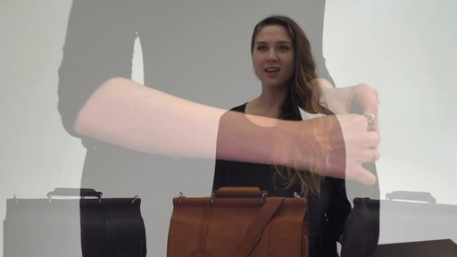 Kenneth Cole Reaction Mind Your Own Business - Colombian Leather Dowel Rod Laptop Case - on eBags.co - image 9 from the video