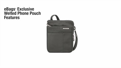 Travelon Anti-Theft Welted Crossbody Phone Pouch - image 2 from the video