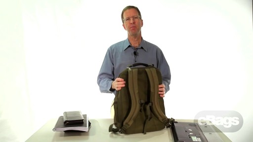Large Capacity Laptop Backpack. eTech 2.0 Macroloader Laptop Backpack. - image 10 from the video