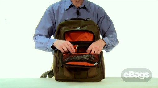 Large Capacity Laptop Backpack. eTech 2.0 Macroloader Laptop Backpack. - image 3 from the video