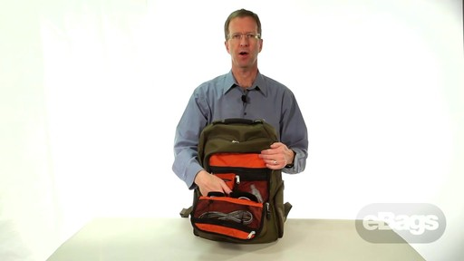Large Capacity Laptop Backpack. eTech 2.0 Macroloader Laptop Backpack. - image 4 from the video