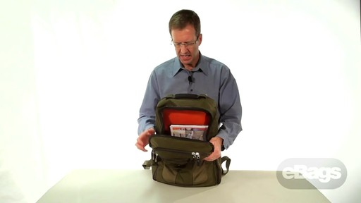 Large Capacity Laptop Backpack. eTech 2.0 Macroloader Laptop Backpack. - image 5 from the video