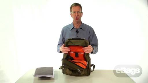 Large Capacity Laptop Backpack. eTech 2.0 Macroloader Laptop Backpack. - image 6 from the video