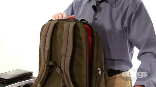 Large Capacity Laptop Backpack. eTech 2.0 Macroloader Laptop Backpack. - image 8 from the video