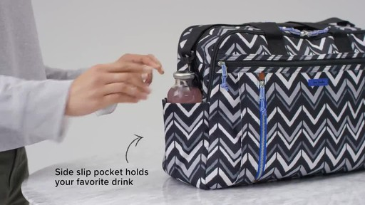 Vera Bradley Lighten Up Weekender Travel Bag - image 7 from the video