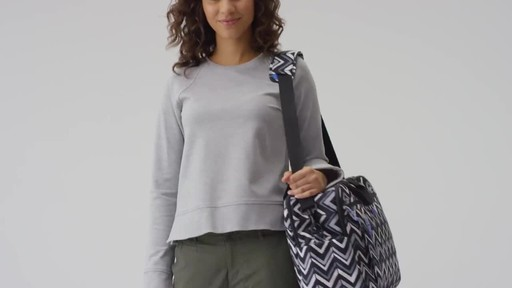 Vera Bradley Lighten Up Weekender Travel Bag - image 8 from the video