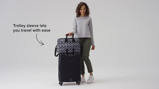 Vera Bradley Lighten Up Weekender Travel Bag - image 9 from the video
