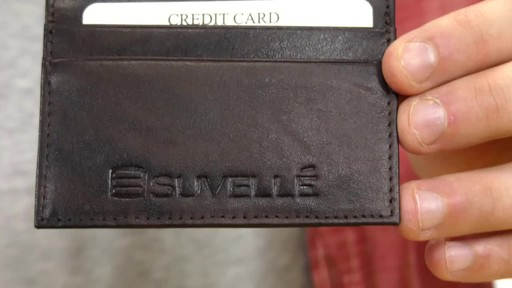 Suvelle Mens Slim Front Pocket Wallet - image 5 from the video