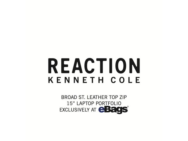 Kenneth Cole Reaction Broad St Leather Top Zip 15