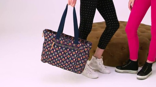 Vera Bradley Lighten Up Expandable Tote - image 7 from the video