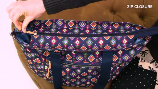 Vera Bradley Lighten Up Expandable Tote - image 8 from the video