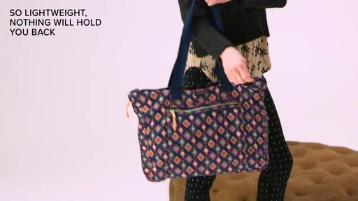 Vera Bradley Lighten Up Expandable Tote - image 9 from the video