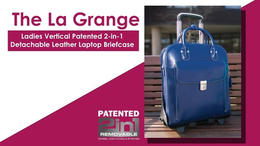 McKlein USA W Series La Grange Leather Vertical Detachable-Wheeled Ladies' Briefcase - image 1 from the video
