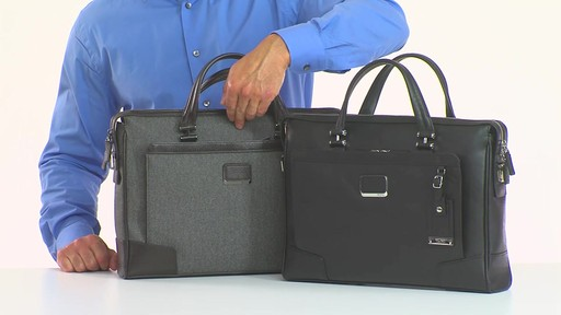 Tumi Astor Regis Slim Zip Top Leather Brief - Shop eBags.com - image 1 from the video