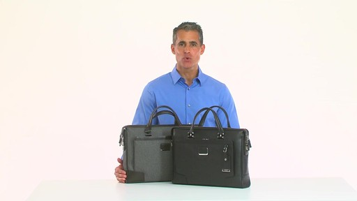 Tumi Astor Regis Slim Zip Top Leather Brief - Shop eBags.com - image 10 from the video